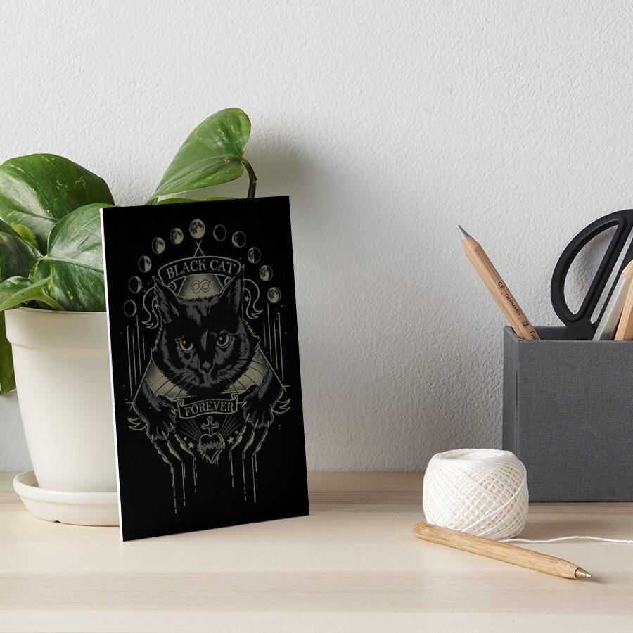 Schwarze Katze Kult Galeriedruck