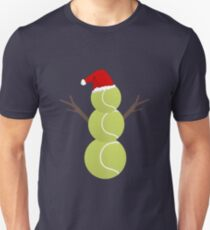 Tennis Ball Snowman - Funny Christmas T-Shirt