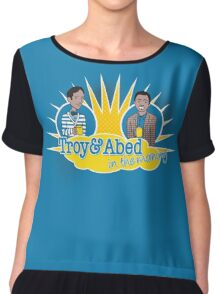 Troy and Abed in the Morning Chiffon Top