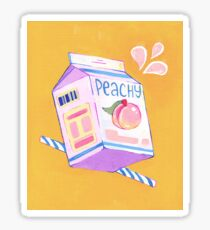 Peach Milk Sticker Sticker