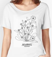 Floral Constellation - Aquarius Women's Relaxed Fit T-Shirt