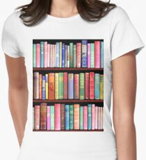 Bookworm Antique books Women's Fitted T-Shirt