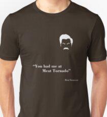 Ron Swanson - Meat Tornado, White T-Shirt