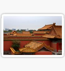 Looking out of Forbidden City Sticker