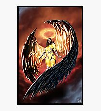 Robot Angel Painting 001 Photographic Print