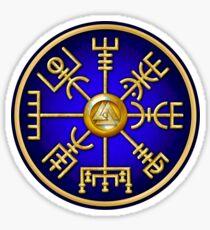 Norse Vegvisir Viking Compass - Blue Sticker