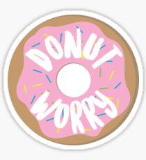 donut worry be happy Sticker