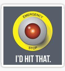 E-Stop Sticker