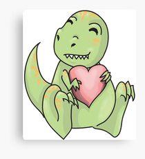 Dino looooove  Canvas Print