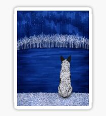 Australian Cattle Dog, Blue Heeler (Blue Forest, Starry Sky), by Artwork by AK Sticker