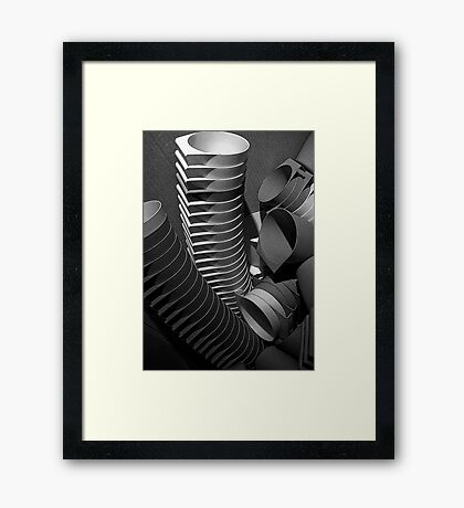 cups runneth over Framed Print
