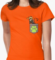 Chat Noir in a Pocket Womens Fitted T-Shirt