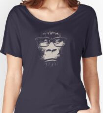 Hipster Gorilla With Glasses Women's Relaxed Fit T-Shirt