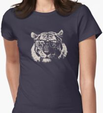 Hipster Tiger With Glasses Women's Fitted T-Shirt