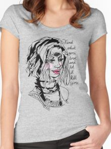 altitudinarian (bold) Women's Fitted Scoop T-Shirt