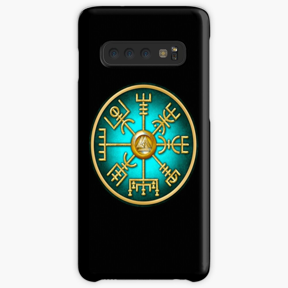 Norse Vegvisir Viking Compass - Teal | Case & Skin for Samsung Galaxy