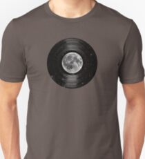 Moon In Space Vinyl LP Record Slim Fit T-Shirt