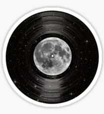 Moon In Space Vinyl LP Record Sticker