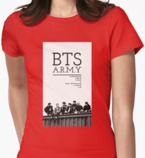 BTS ARMY Womens Fitted T-Shirt