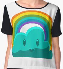 Rainbow Cloud Women's Chiffon Top
