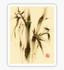 """Awareness"" Sumi-e bamboo painting on paper Sticker"