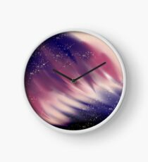 Aurora backgrond Clock
