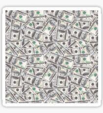 U.S. $100 Bill Money Pattern Sticker