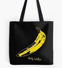 Retro Velvet Underground Andy Warhol Banana Rock Black T Shirt Sz S M L XL Tote Bag