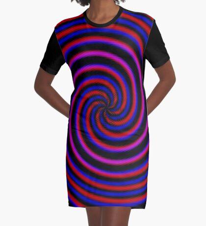 Polar Flower 007 Graphic T-Shirt Dress