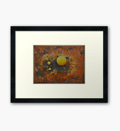 Space Meditation ii Framed Print