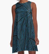 Blue Triangles A-Line Dress