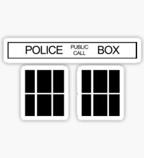 THE BLUE BOX T Shirt Doctor Doc Dalek BBC Bow Tie TV Tenth Eleventh Who Police Sticker