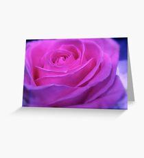 VIVID PINK ROSE Greeting Card