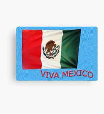 Mexican Flag Canvas Print