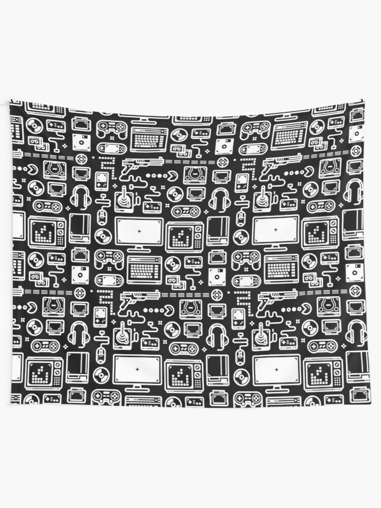 Retro Gamer Video Game Consoles, PC's, Controllers, Joysticks and Gamepads  | Wall Tapestry