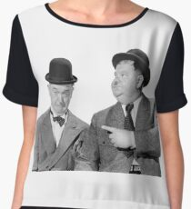 Laurel and Hardy Chiffon Top