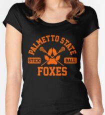 palmetto state stickball orange Women's Fitted Scoop T-Shirt