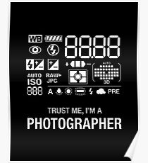 Photographer Camera Photography Gift Present Funny Poster