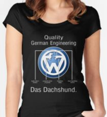Quality German Engineering Das Dachshund - Doxie T-Shirt Women's Fitted Scoop T-Shirt