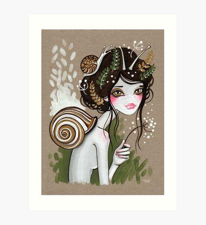 Snail Girl Art Print