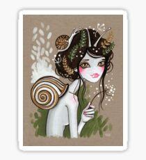Snail Girl Sticker