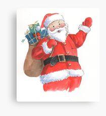 Cute Santa Christmas character Canvas Print