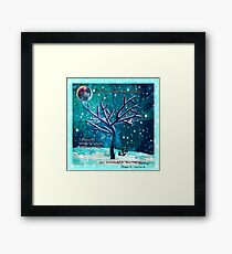 Invincibility Affirming Winter Landscape Framed Print