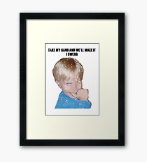 A Happy Boy Framed Print