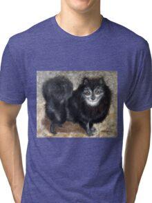 Old Rocky, Black Pomeranian Dog Tri-blend T-Shirt