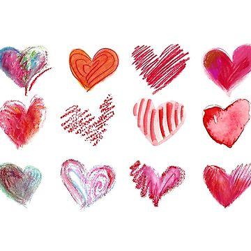 Hearts Hearts Hearts by Lillyarts