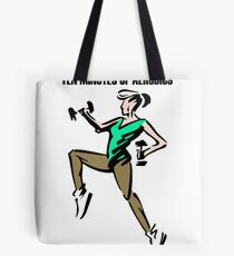 Aerobics lady Tote Bag