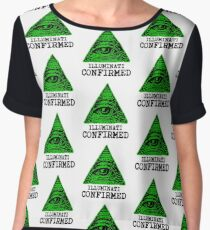 Illuminati Confirmed Women's Chiffon Top