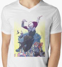 Spider-Gwen HAHTF Mens V-Neck T-Shirt