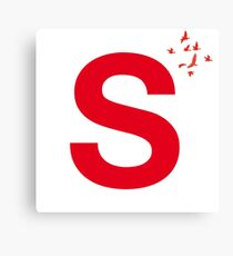 Typography, Font, S, Alphabet, Letter Canvas Print